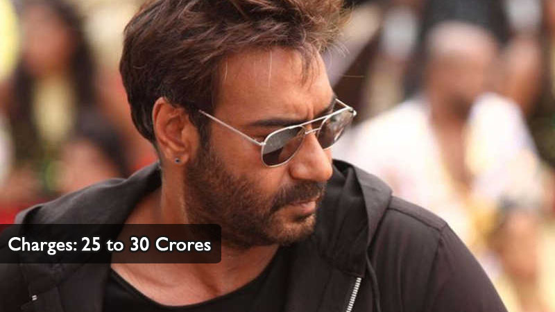 Ajay Devgan Charges 25 to 30 Crores