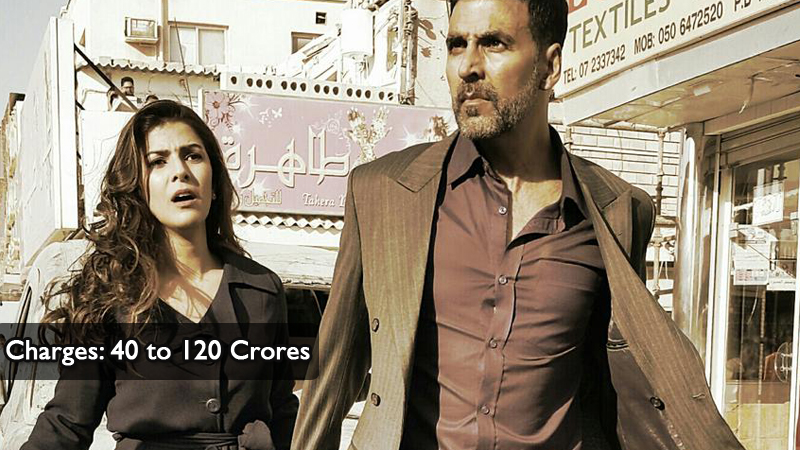 Akshay Kumar charges 40 to 120 Crores