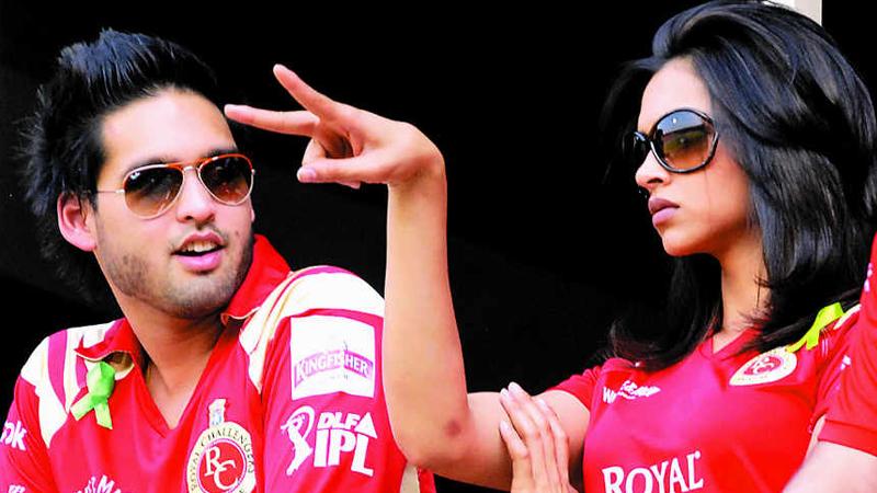 Deepika with Siddarth Mallya