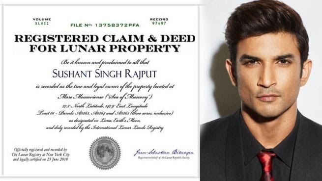 Actor Sushant Singh Rajput Has Bought A Piece Of Land On Moon! The ...